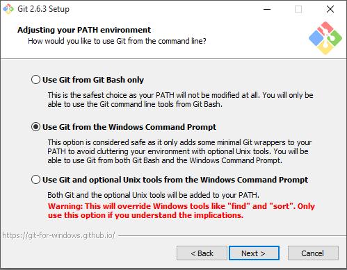 Git SCM Installation